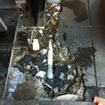 東京都豊島区池袋ビルエントランス石貼り修繕工事