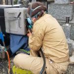 板橋区の墓地字掘り作業