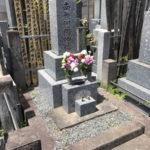 信濃町のお寺様で納骨の作業