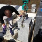 茨城県河内町墓石工事