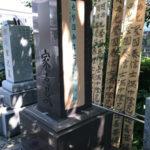 お寺様で納骨、戒名彫り