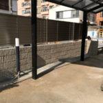 新宿区信濃町 隣地境界のブロック塀の改修工事