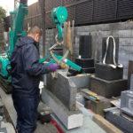 文京区墓石移設工事