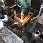 文京区のお寺墓地で暮石工事