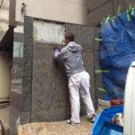 中央区銀座ビル石貼り修復工事