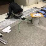 千葉県浦安市のオフィスビル大理石の貼り替え工事