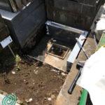 文京区のお寺様で墓石工事