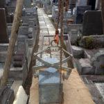 板橋区戒名彫り花立交換現場