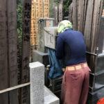 東京都内 戒名彫り作業