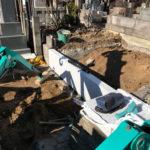 新宿区 お寺様で墓地の解体工事