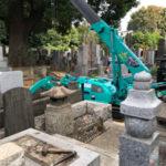 港区広尾 墓地の改修工事