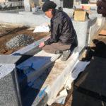 多磨霊園で墓地改修工事