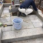 多磨霊園 石貼り工事
