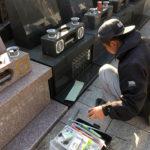 川崎市戒名彫り作業