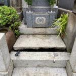 東京都文京区のお寺様で納骨作業と戒名彫り作業