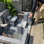 東京都文京区のお寺様で墓地の改修工事