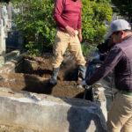 文京区のお寺様の墓地で改修工事