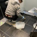 台東区御徒町 ビルエントランス石貼り改修工事