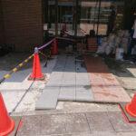 東京都渋谷区 ビルエントランス石貼り改修工事